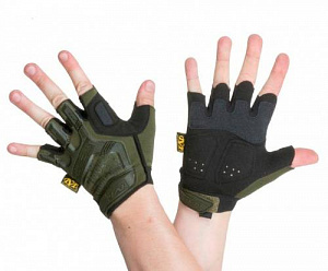 Перчатки беспалые mechanix m-pact fingerless Olive Black