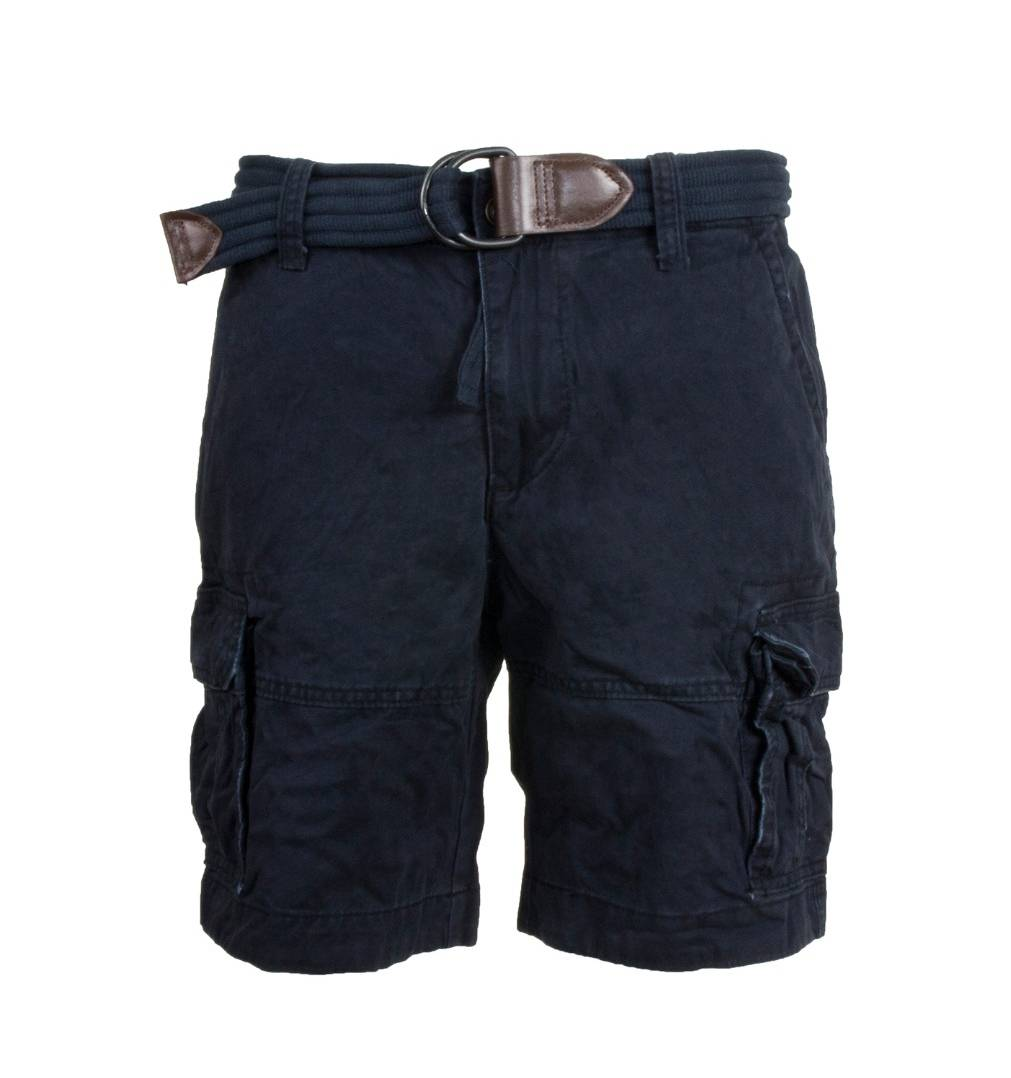 Шорты с ремнем Abercrombie & Fitch 170 Blue Navy