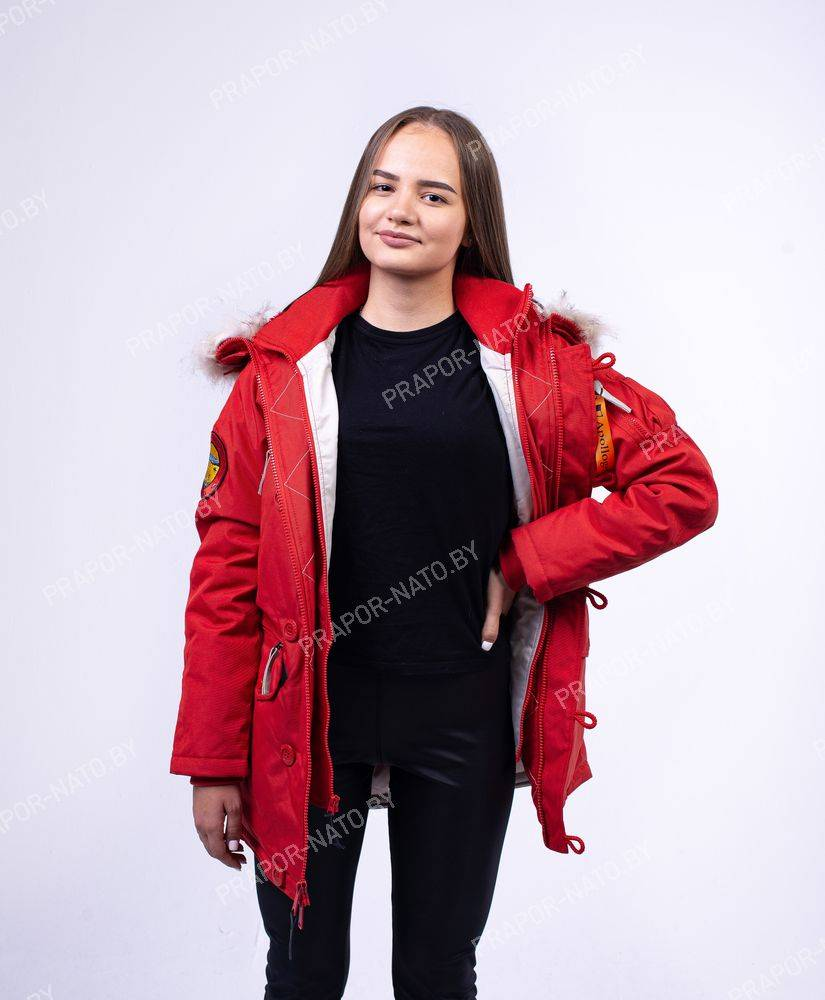 Куртка женская Apolloget WMN OXFORD Simple Red and Grey