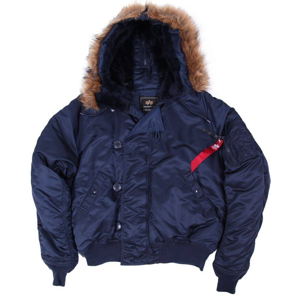 Куртка зимняя Alpha Industries N-2B Parka Replica Blue