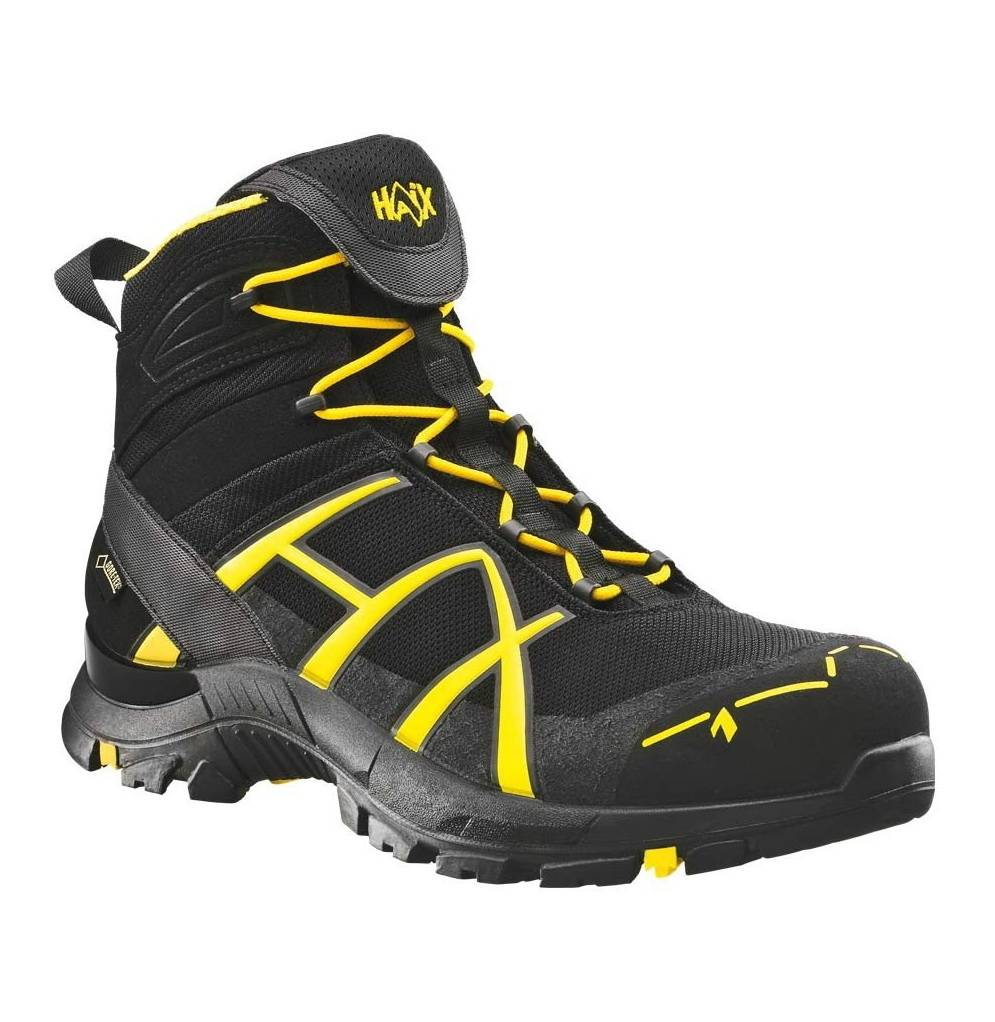 Ботинки Black Eagle Safety 40 Mid black/yellow 2сорт HAIX