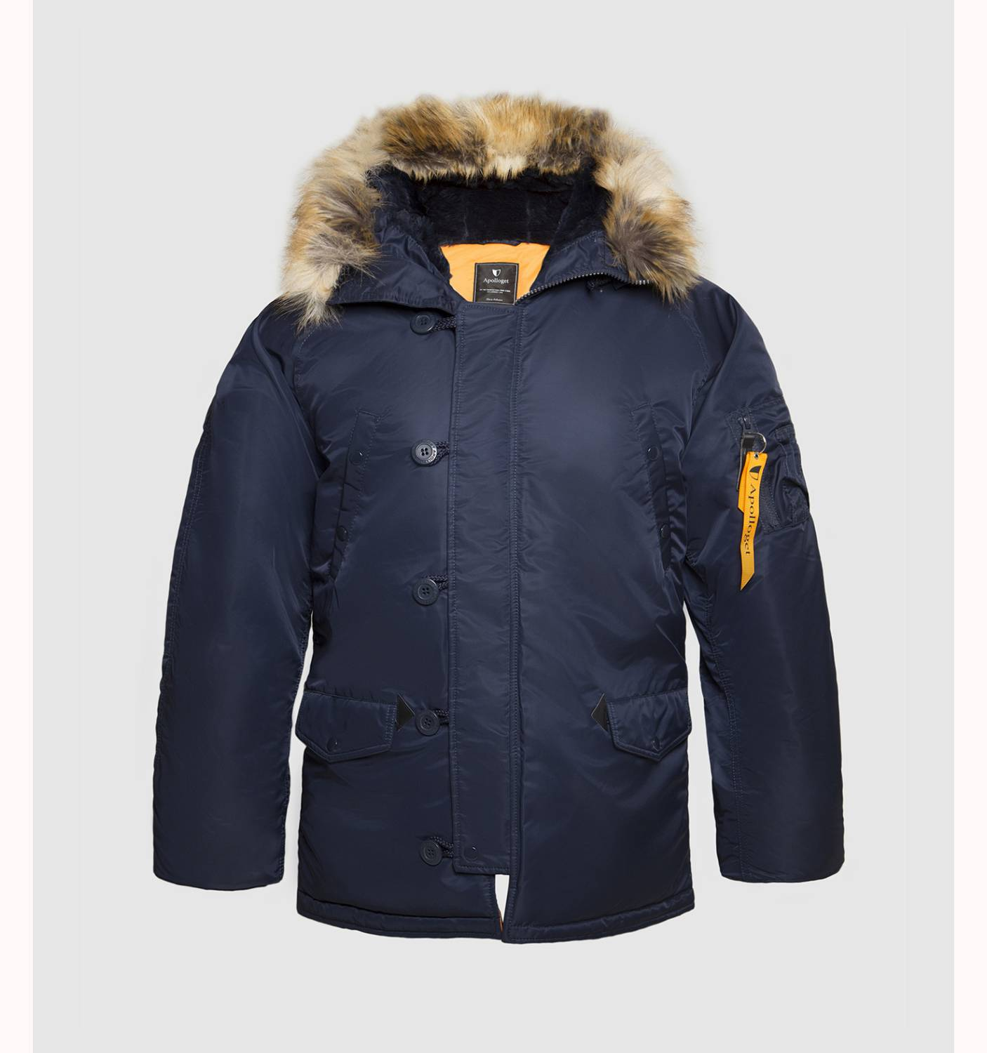 Куртка мужская Apolloget HUSKY REGULAR Rep. Blue / Orange