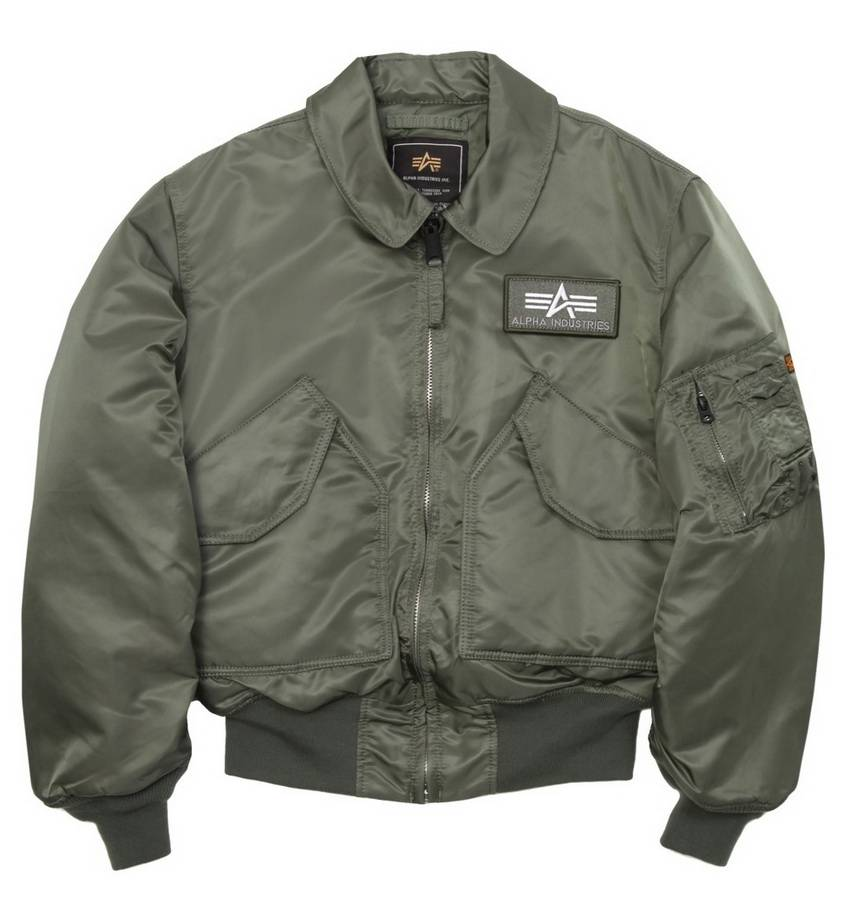 Лётная куртка (бомбер) Alpha Industries CWU 45/P Flight Jacket Sage Green