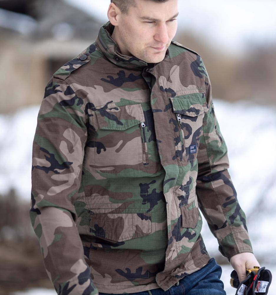 Куртка Cranford jacket Rip Stop Vintage Industries Woodland