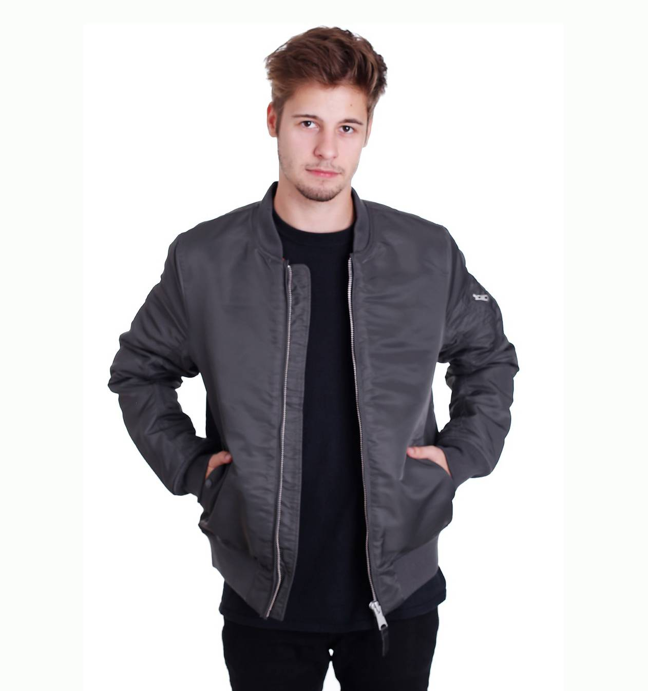 Куртка бомбер Collin jacket Replica Grey V/Works