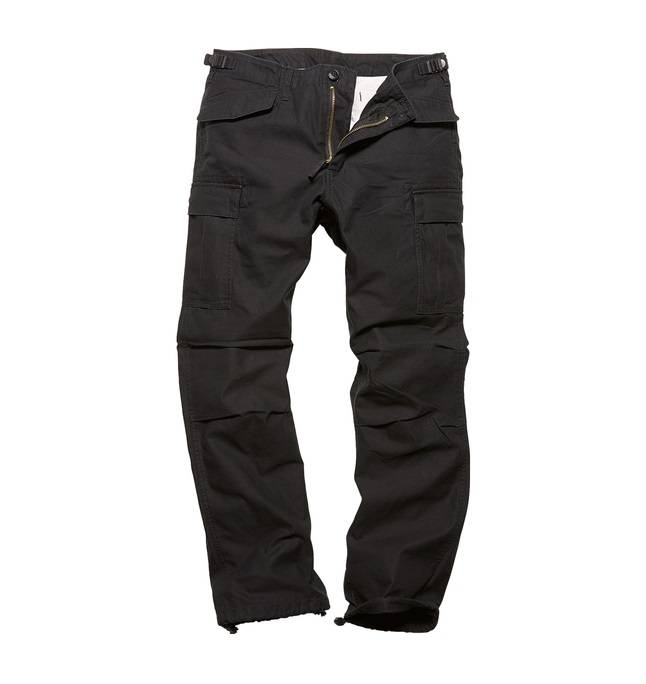 Брюки M65 heavy satin Black Vintage Industries