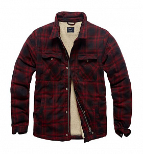 Рубашка Class Sherpa Red Check Vintage Industries