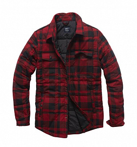 Рубашка Square Padded Shirt Red Check Vintage Industries