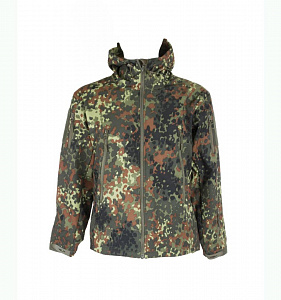 Куртка Оперативник Shark Skin Soft Shell на толстом флисе Flecktarn
